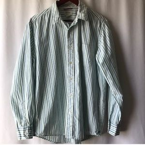 American Eagle Men's Stripped Button Up Shirt.